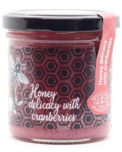 Honey delicacy with cranberries